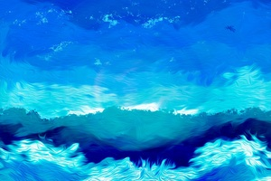 Illustration Blue Sky Artwork Drawing Painting