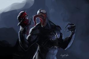 In Venom Hands Spider Mask