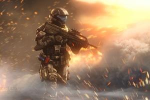 Incendiary Halo 4k Wallpaper