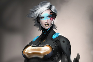 Infiltrator Scifi Girl 4k Wallpaper