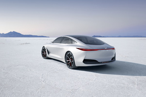 Infiniti Q Inspiration Concept Car Rear Side 2018 Wallpaper