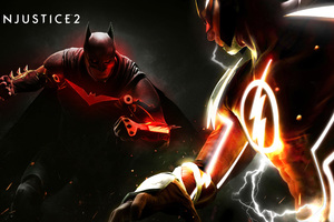 Injustice 2 Fanart Poster Batman Vs Flash 4k Wallpaper