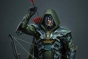 Injustice 2 Green Arrow War Suit 4k