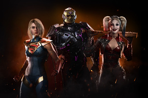 Injustice 2 Supergirl Harley Quinn 4k Wallpaper