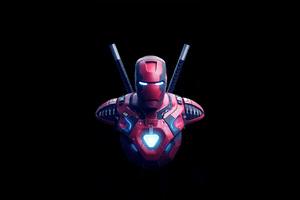 Iron Deadpool Art Wallpaper