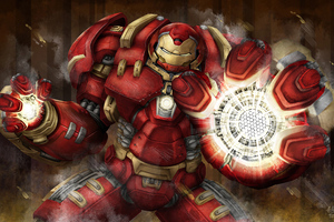 Iron Hulkbuster 4k Art Wallpaper