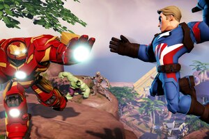 Iron Hulkbuster And Captain America In Marvel Battlegrounds