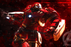 Iron Hulkbuster Artwork 4k