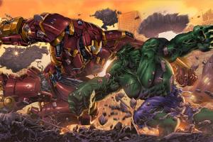 Iron Hulkbuster Vs Hulk