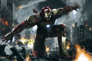 Iron Man 3 Art 4k