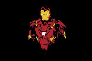 Iron Man 8k Minimal Wallpaper