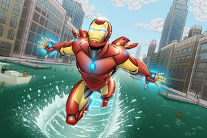 Iron Man Above The Water