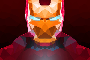 Iron Man Abstract Art
