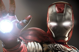 Iron Man Aim Firing Wallpaper