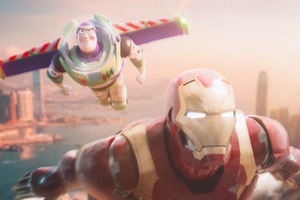 Iron Man And Buzz Light Year Wallpaper