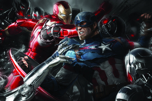 Iron Man And Captain America 5K Artwork Wallpaper
