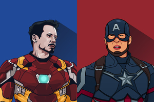 Iron Man And Captain America Artwork 5k Wallpaper