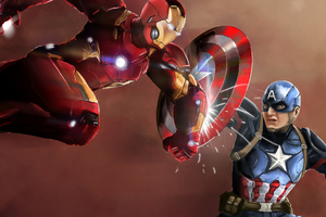 Iron Man And Captain America New Wallpaper