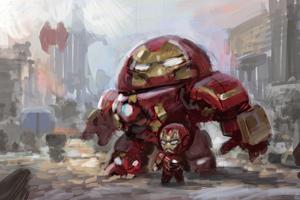 Iron Man And Iron Hulkbuster