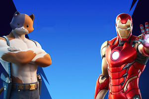Iron Man And Meowscles In Fortnite