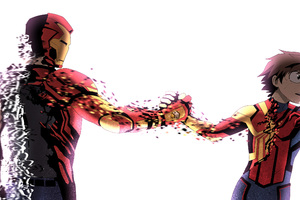 Iron Man And Spiderman Turned To Dust