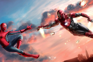 Iron Man And Spiderman United 4k