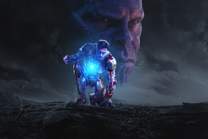 Iron Man And Thanos In Avengers Infinity War Wallpaper