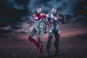 Iron Man And War Machine 4k