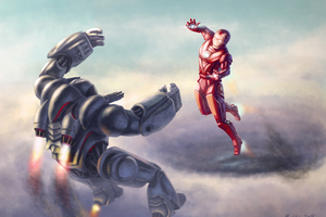 Iron Man And War Machine Artwork