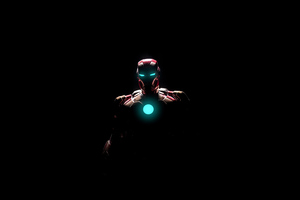 Iron Man Arc Reactor Glowing