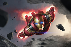 Iron Man Artwork Fan Made Wallpaper