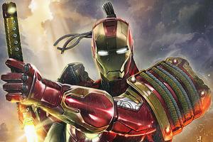 Iron Man As Samurai 4k Wallpaper