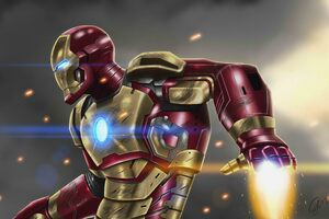 Iron Man At War 10k Artwork Wallpaper