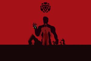 Iron Man Avengers Endgame 4k Minimalism