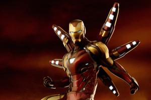 Iron Man Avengers Endgame Suit Wallpaper