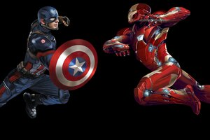 Iron Man Captain America 8k