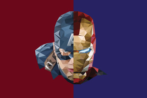 Iron Man Captain America Abstract