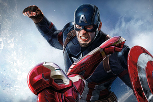 Iron Man Captain America Hd Wallpaper