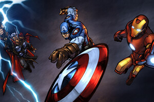 Iron Man Captain America Thor 10k Wallpaper