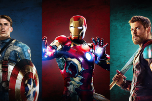 Iron Man Captain America Thor 4k Wallpaper