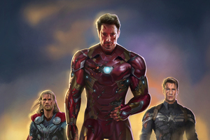 Iron Man Captain America Thor Fan Art