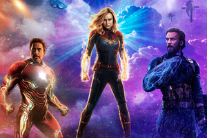 Iron Man Captain Marvel Captain America Wallpaper