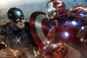 Iron Man Captainamerica Wallpaper