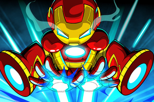 Iron Man Cartoon Digital Art 4k