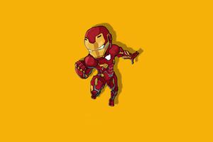 Iron Man Chibbi Minimal 4k Wallpaper