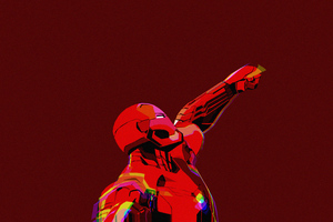 Iron Man Clean Minimal Art 4k
