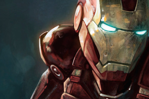 Iron Man Closeup Art