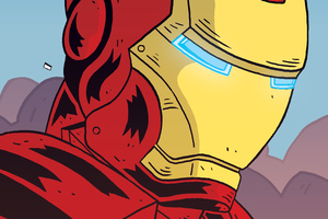 Iron Man Comic Cartoon Art