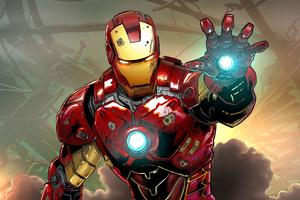 Iron Man Comicart 4k