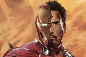 Iron Man Damage Suit Wallpaper